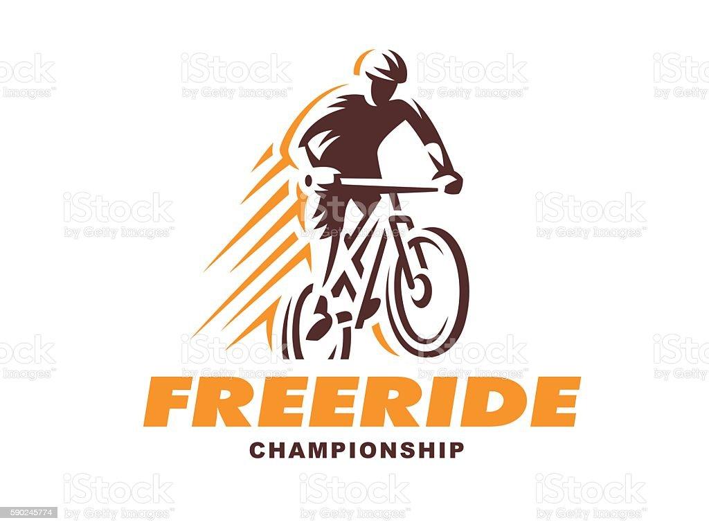 Vintage and modern biking Illustration badges vector art illustration