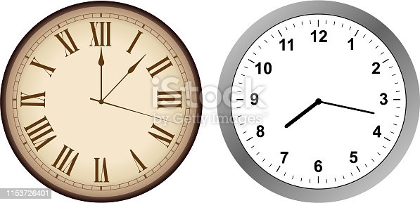 Vintage and modern clock