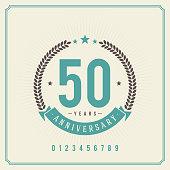 Vintage anniversary message emblem