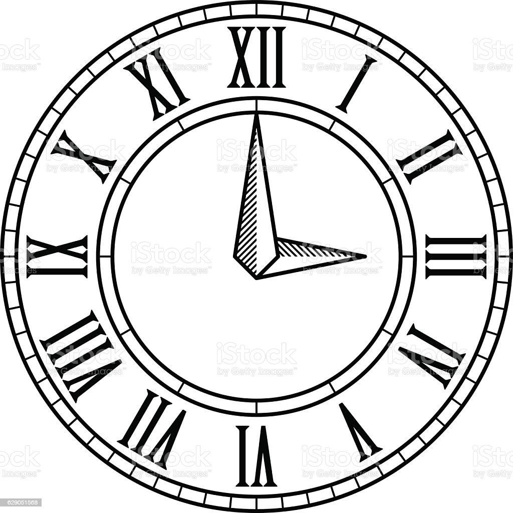 Abstract Vector Art Clock Face 1 Clip Art Vector Site