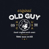 Vintage apparel design for clothing company
