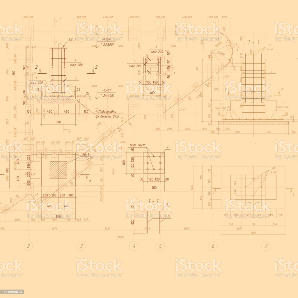 Vintage architectural blueprint vector background stock vector art vintage architectural blueprint vector background royalty free vintage architectural blueprint vector background stock vector malvernweather Gallery