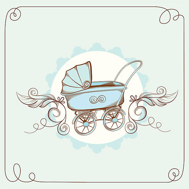 Royalty Free Vintage Baby Carriage Clip Art, Vector Images ...