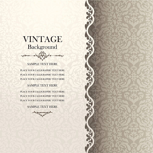 vintage background, antique greeting card, invitation with lace - 巴洛克風格 幅插畫檔、美工圖案、卡通及圖標