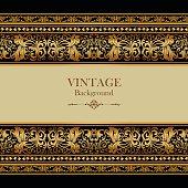 Vintage background, antique greeting card