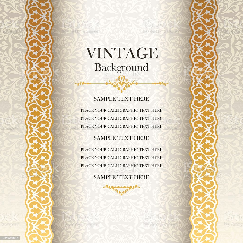 Vintage Background Antique Style Greeting Card Stock