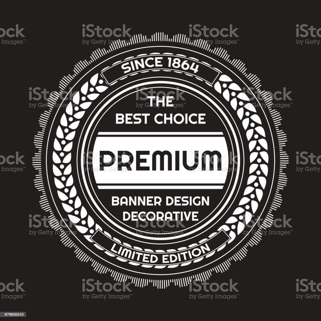 Vintage Background Label Style Design Template Stock Vector Art ...