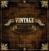 Vintage background, ornate card design for greeting card, menu, invitation.