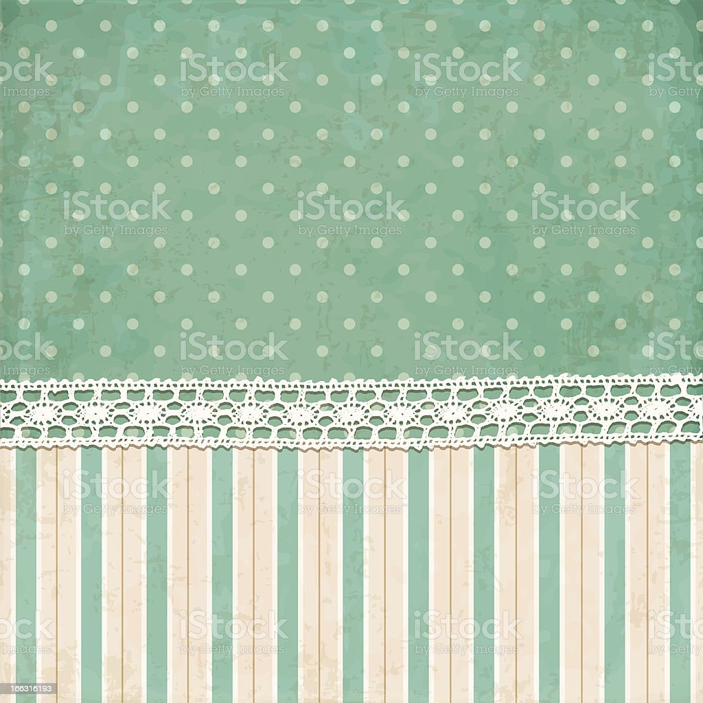 Vintage background. Polka dot and strips wallpaper royalty-free stock vector art