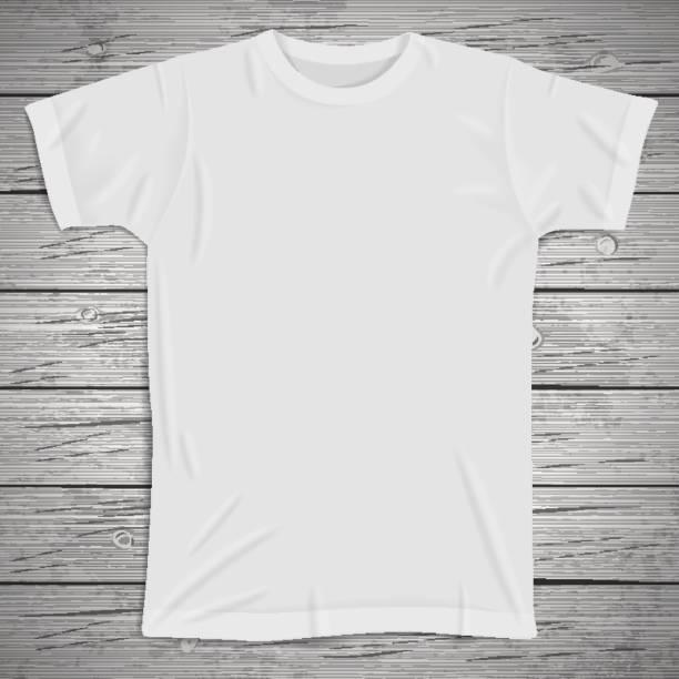 Vintage background with blank t-shirt vector art illustration