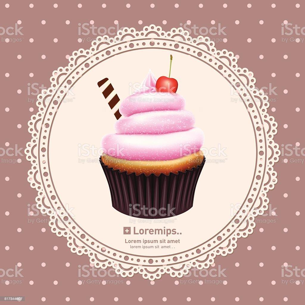 vintage hintergrund mit cupcake stock vektor art und mehr bilder von abstrakt 517344607 istock. Black Bedroom Furniture Sets. Home Design Ideas