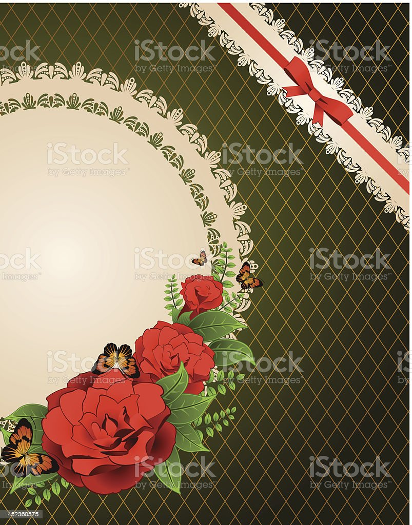 Vintage background with flowers and ornaments. Vector royalty-free vintage background with flowers and ornaments vector stock vector art & more images of animal markings