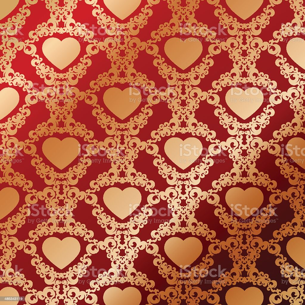 Vintage background with heart royalty-free stock vector art