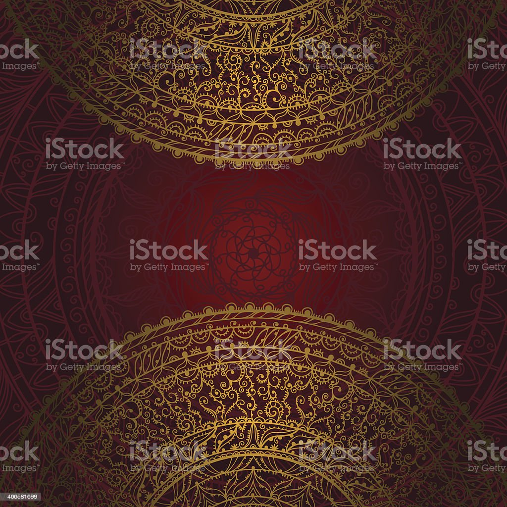 Vintage background with lace ornament royalty-free stock vector art