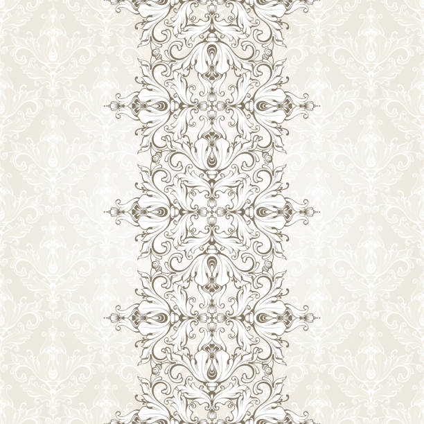 Vintage background with pattern and ornamental seamless border. Ornate lace template for invitation, greeting card, certificate design. Vintage background with pattern and ornamental seamless border. Ornate lace template for invitation, greeting card, certificate design. endless. mistery stock illustrations