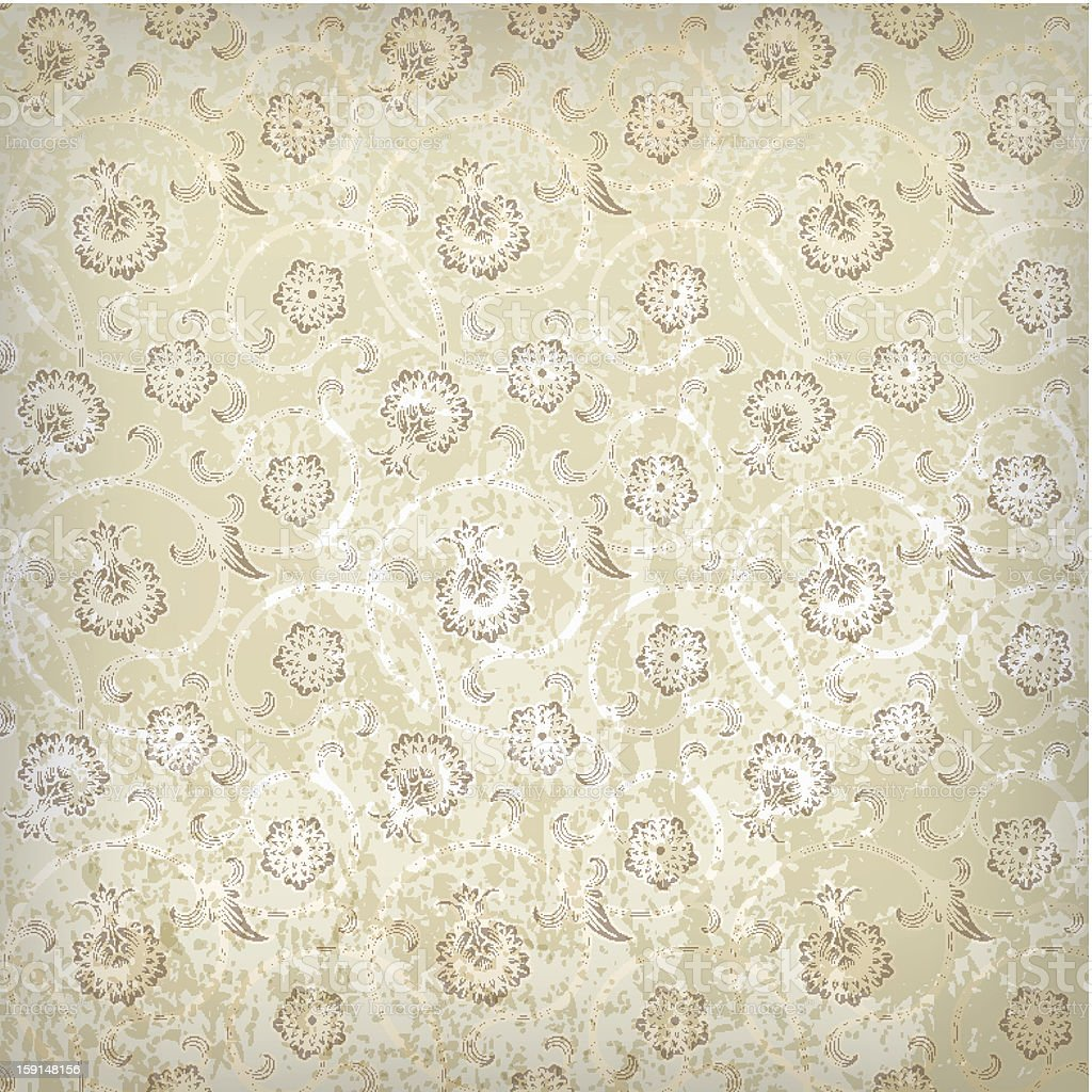 vintage background with seamless pattern royalty-free stock vector art
