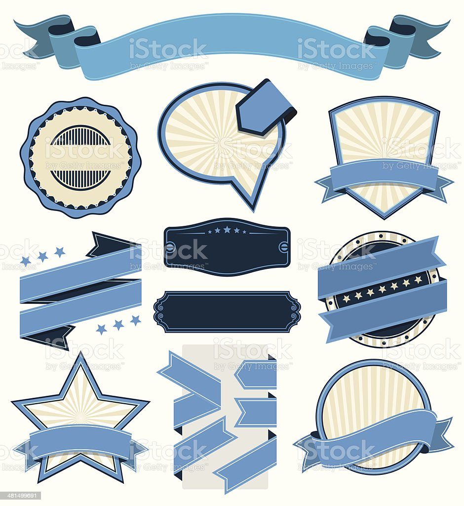 Vintage Badge and Label Set vector art illustration