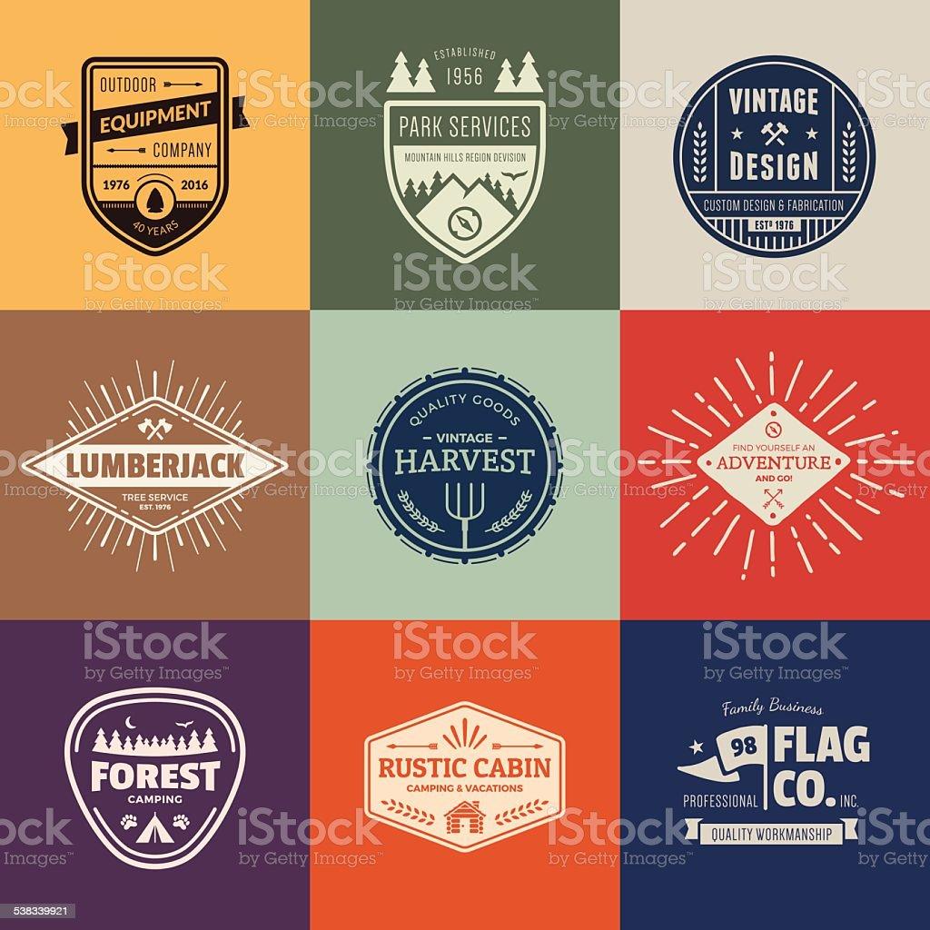 Vintage badge graphics vector art illustration