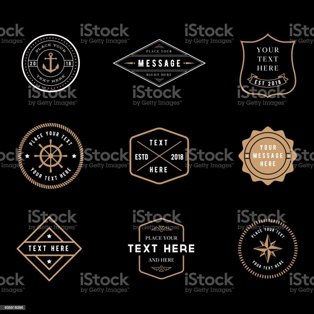 S Badge Vintage s badge vintage vecteurs libres de droits et plus d'images vectorielles de badge libre de droits