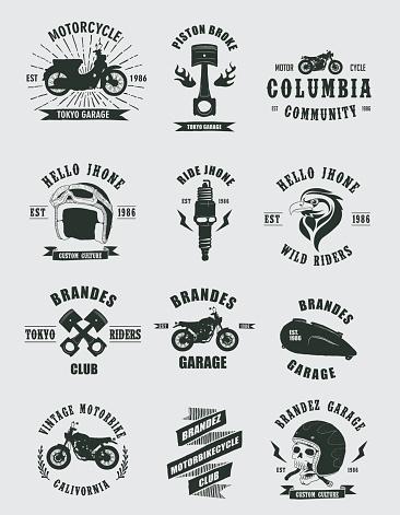 Vintage Badges Motorcycle