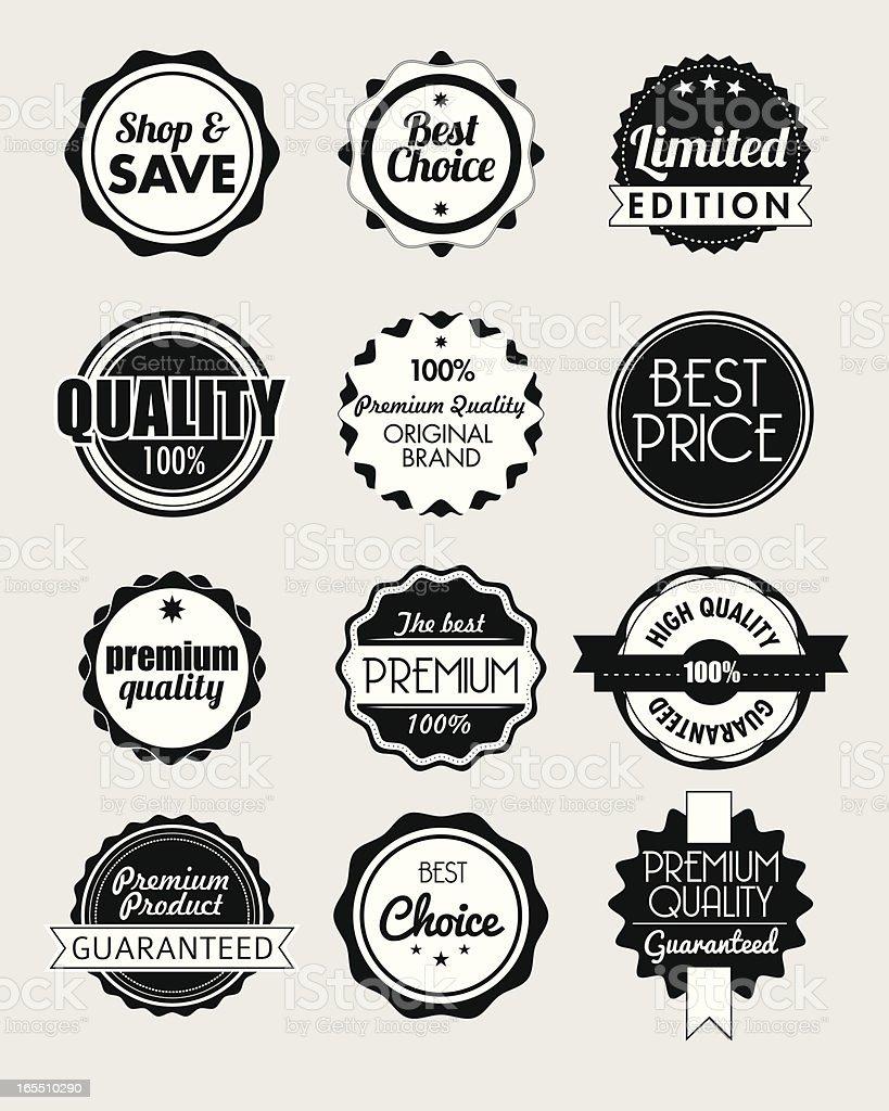 vintage badges royalty-free stock vector art