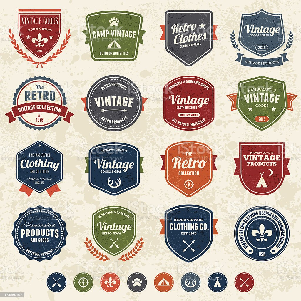 Vintage badges royalty-free stock vector art