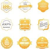 The vector file of vintage badges set.