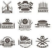 Vintage bakery labels set.  template in vector style