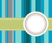 vintage banner with blue stripe background