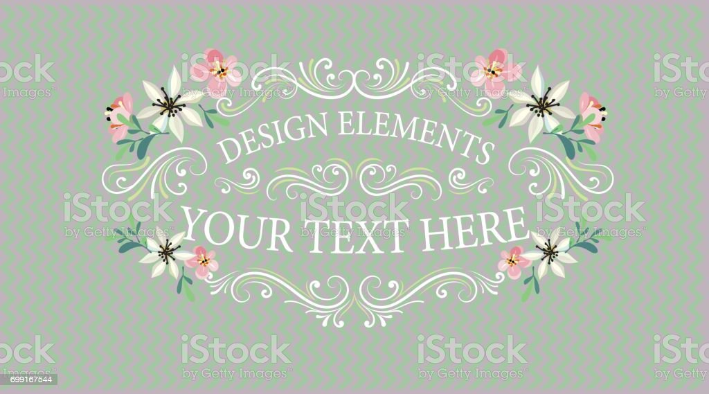 Vintage Banners And Frames With Flowers Stock Vector Art & More ...