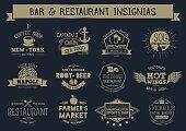 Vintage bar & restaurant insignias