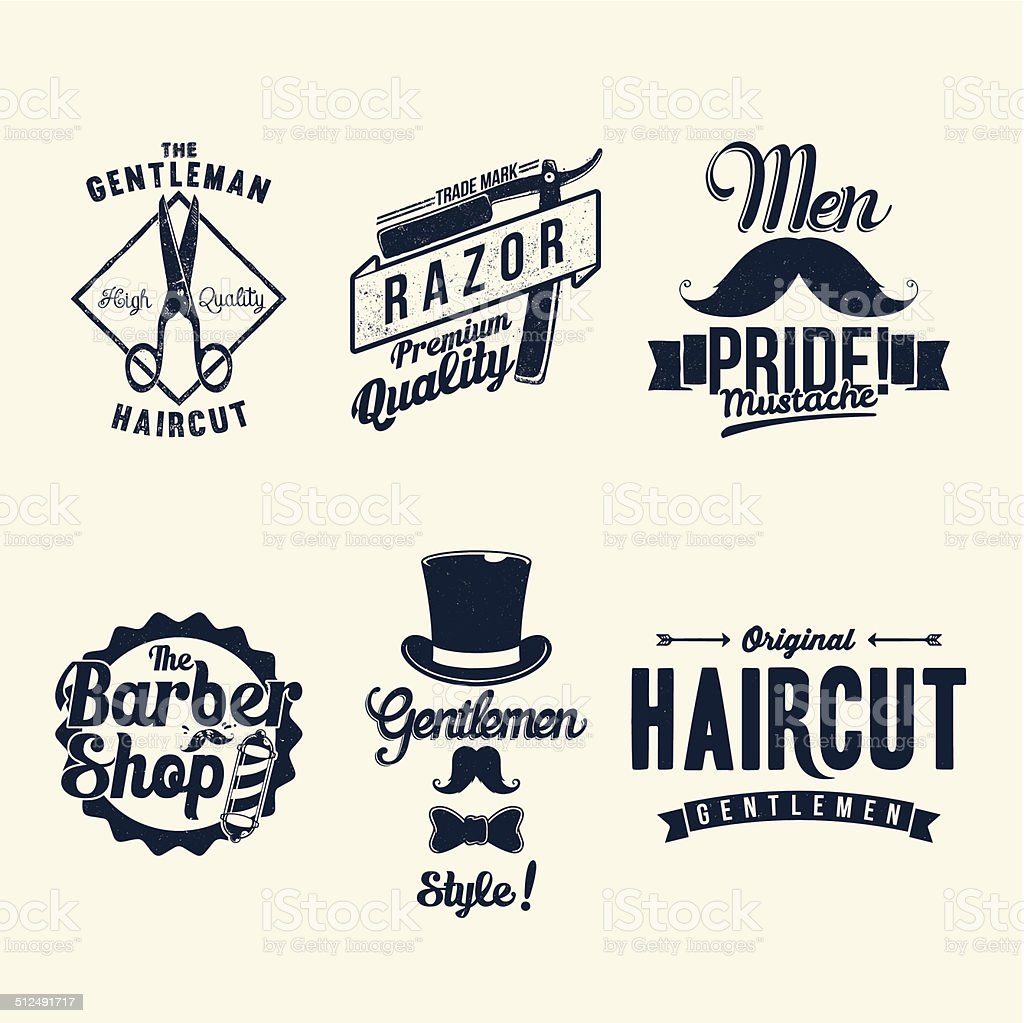 Vintage Barber Shop vector art illustration
