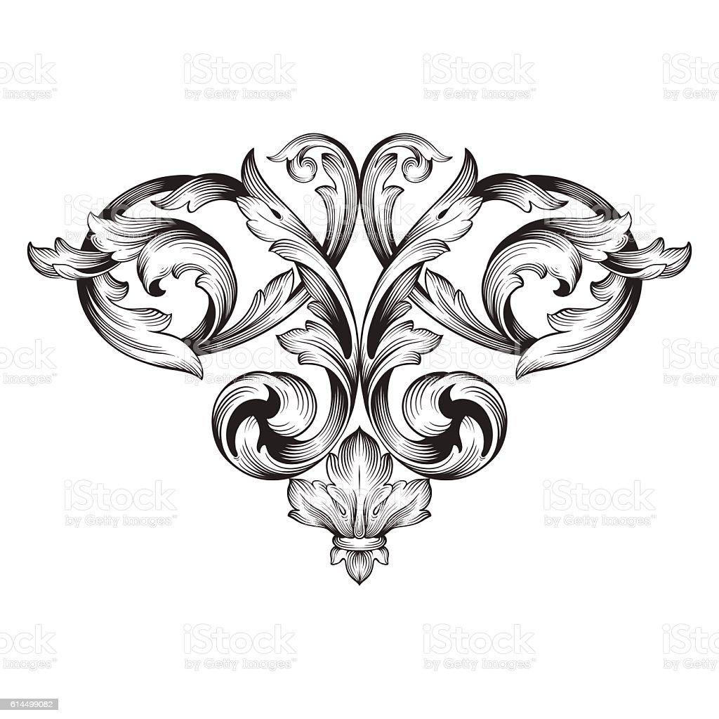 vintage gravur scroll ornament barockrahmen stock vektor art und mehr bilder von dekoration. Black Bedroom Furniture Sets. Home Design Ideas