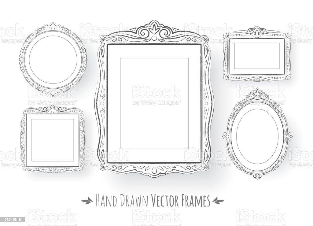Barocke Bilderrahmen Set Vintagelook Stock Vektor Art und mehr ...