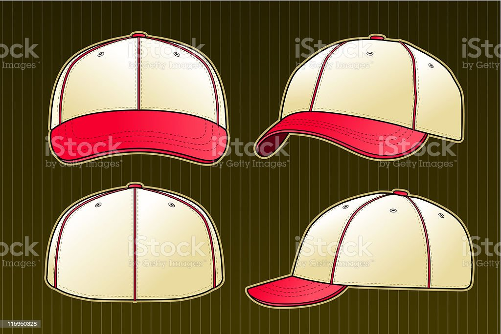 Vintage Baseball Cap royalty-free stock vector art