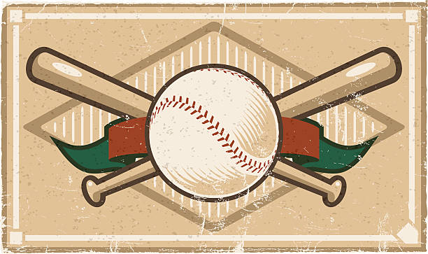 Vintage Baseball Design vector art illustration