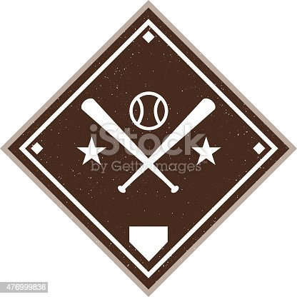 Vintage baseball diamond. Customize with your own colors and text.