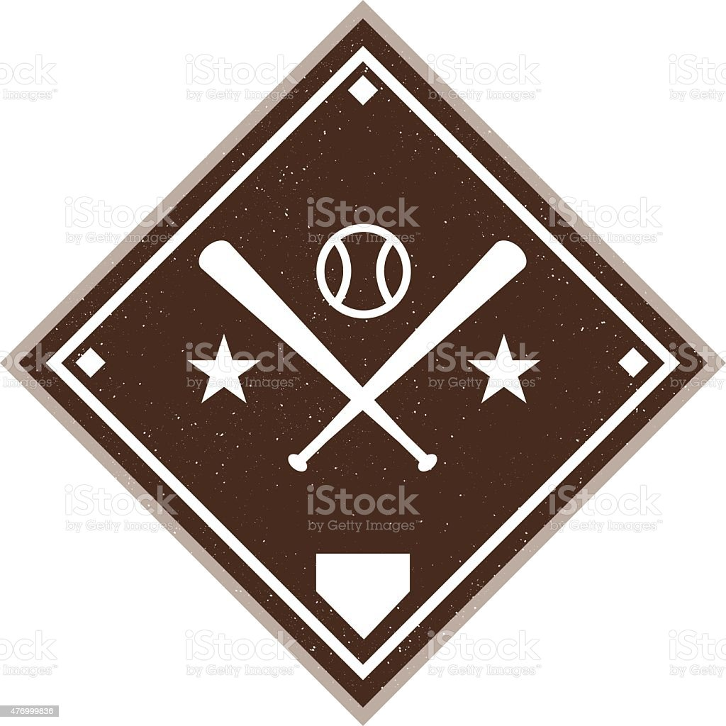 Vintage Baseball Diamond vector art illustration