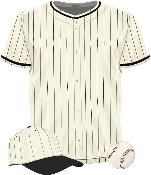 Vintage Baseball Jersey vector art illustration