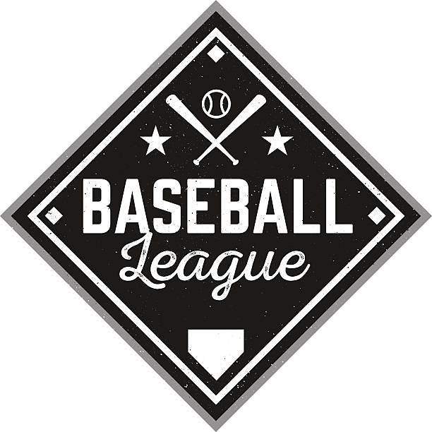 Vintage Baseball Logo vector art illustration