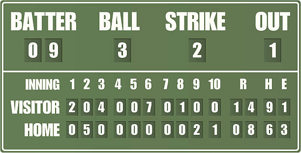 royalty free baseball scoreboard clip art vector images