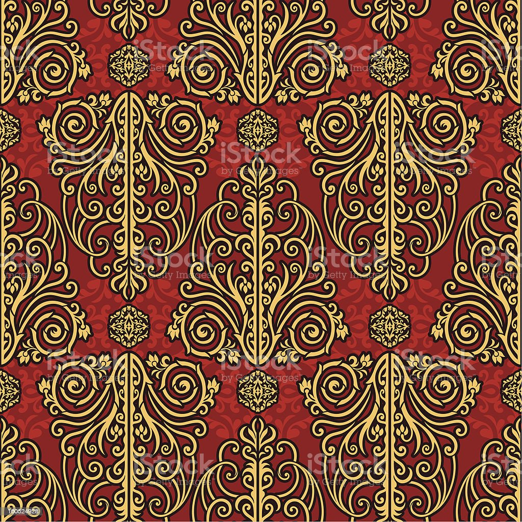 Vintage beautiful background, red seamless pattern royalty-free stock vector art