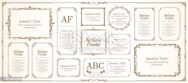 Vintage beautiful frame design set