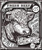 Vintage Beef Advertising Page on Blackboard
