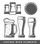 Vintage beer elements