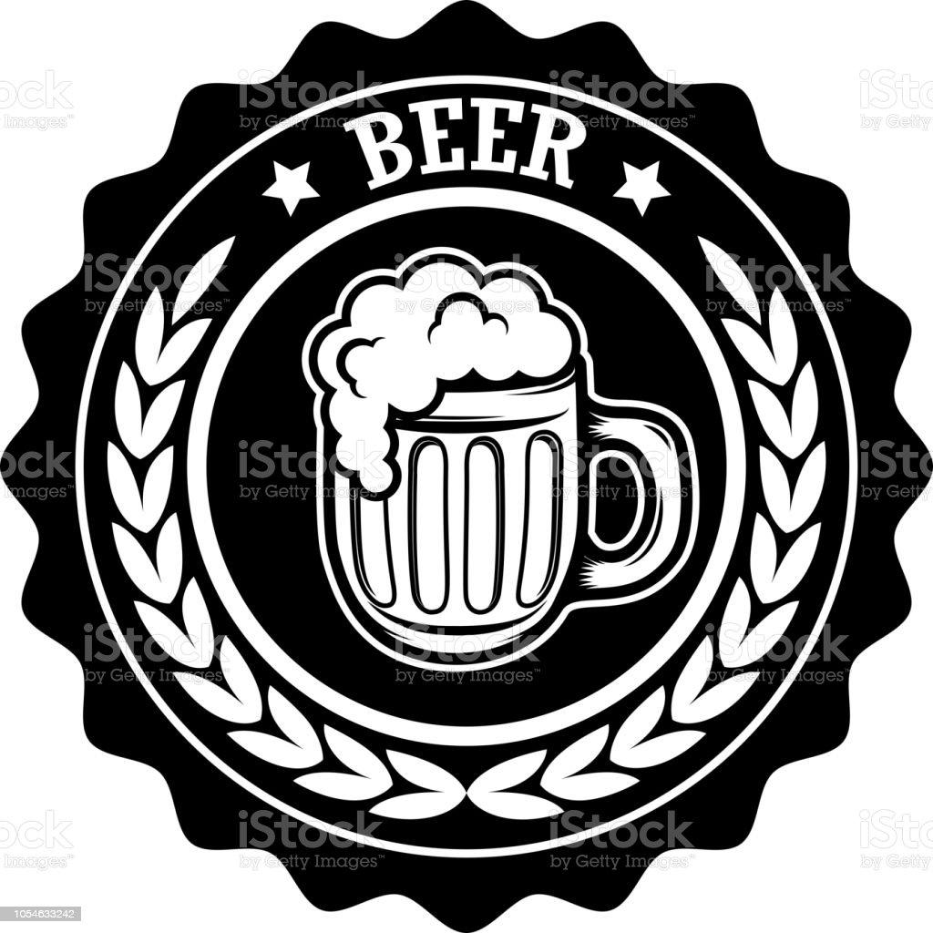 Vintage beer label. Design elements for label, emblem, sign, menu. vector art illustration
