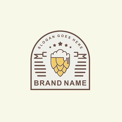 Vintage Beer Label Logo Brand Identity Template
