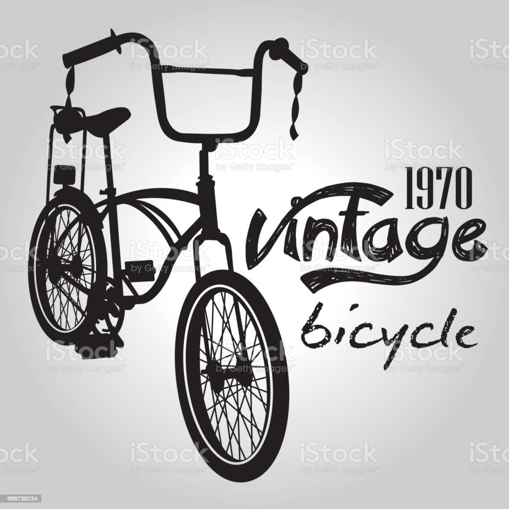 Vintage bicicle vector graphic design. vintage bicicle vector graphic design - immagini vettoriali stock e altre immagini di abitacolo royalty-free