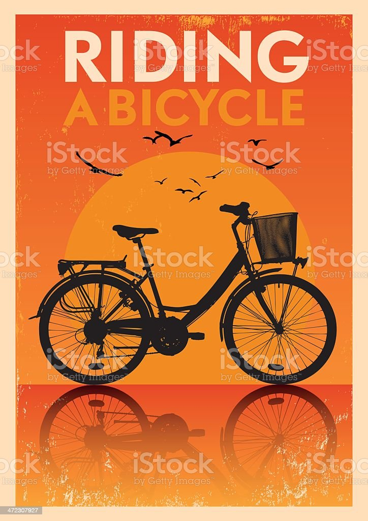 Vintage Bicycle Poster royalty-free stock vector art