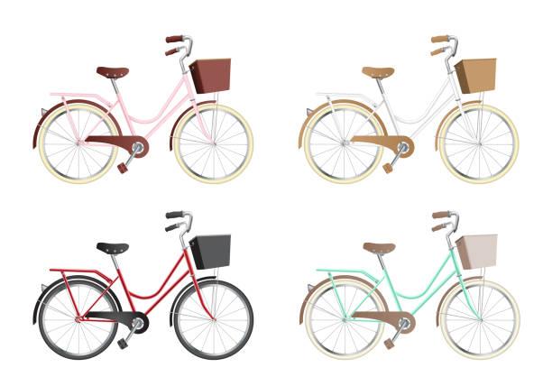 illustrations, cliparts, dessins animés et icônes de vélo vintage  - velo